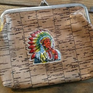 UNUSUAL VINTAGE INDIAN CHIEF Coin Purse/Change